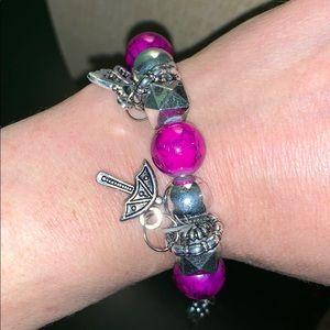 Jewelry - Butterfly Bracelet with Purple beads